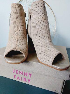 Jenny Fairy Tacones con punta abierta color oro-crema
