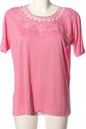 Jenny Blouse à manches courtes rose style décontracté
