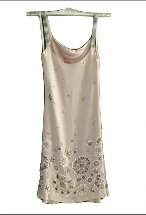 Jenny Packham Cocktailkleid Seide rose UK 8 (EU 36, S) wie neu NP 980,-€