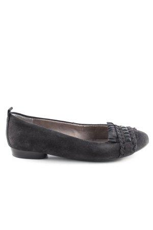 Jenny Ballerina's met bandjes zwart zakelijke stijl