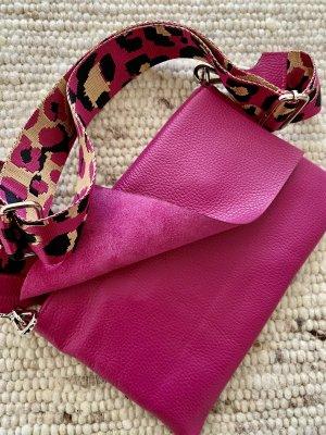 Borse in Pelle Italy Shoulder Bag violet leather