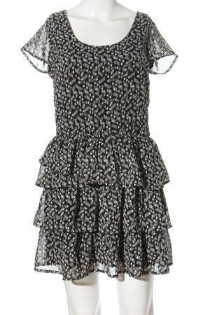 Jennyfer Abito blusa nero-grigio chiaro stampa integrale stile casual