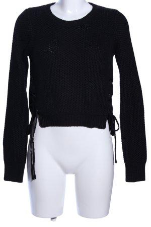 Jennyfer Grobstrickpullover schwarz Casual-Look