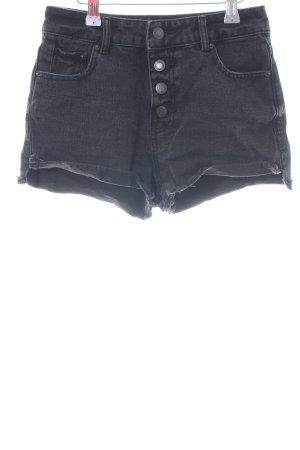 Jennyfer Pantaloncino di jeans nero stile casual