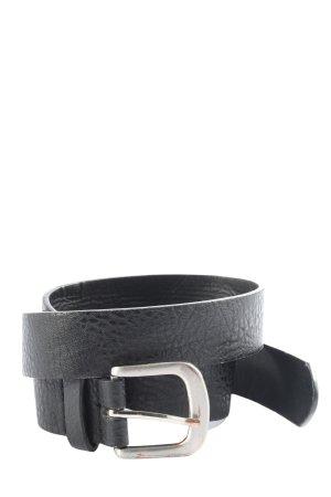 Jennyfer Cinturón de cuero de imitación negro estilo «business»