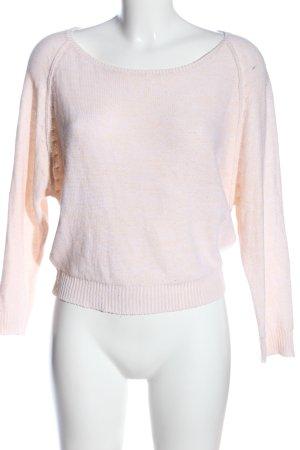 Jennyfer Rundhalspullover creme-pink meliert Casual-Look