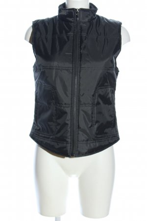 Jennyfer Quilted Gilet black quilting pattern casual look