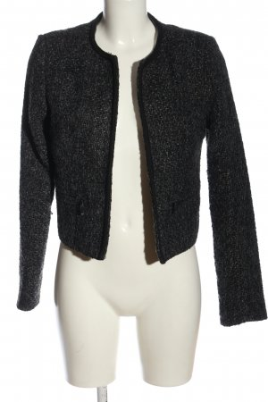 Jennyfer Blazer in maglia nero-grigio chiaro puntinato stile casual
