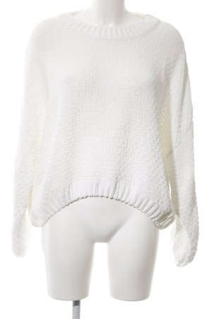 Jennyfer Strickpullover weiß Casual-Look