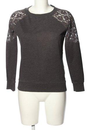 Jennyfer Felpa grigio chiaro puntinato stile casual