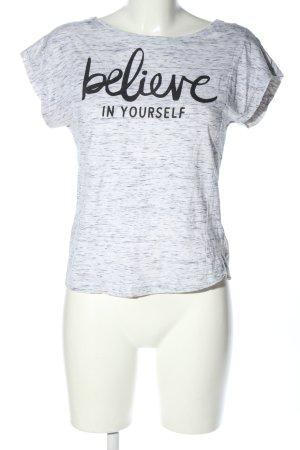 Jennyfer T-shirt grigio chiaro-nero puntinato stile casual