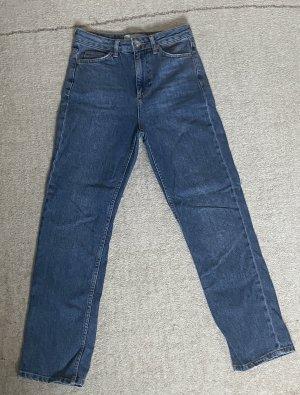 Topshop Moto Jeans baggy bleu acier