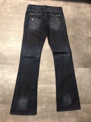 Ann Christine Low Rise Jeans dark blue