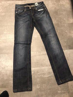 AC Jeansy biodrówki ciemnoniebieski