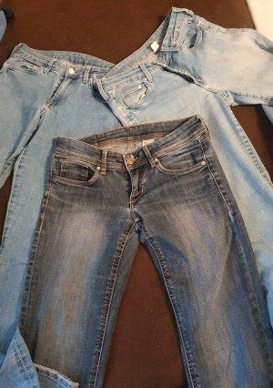 Jeansy ze stretchu ciemnoniebieski-stalowy niebieski