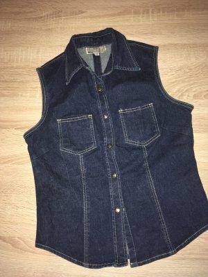 JEP'S Gilet en jean bleu foncé jean