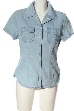 JEP'S Chemise en jean bleu style décontracté