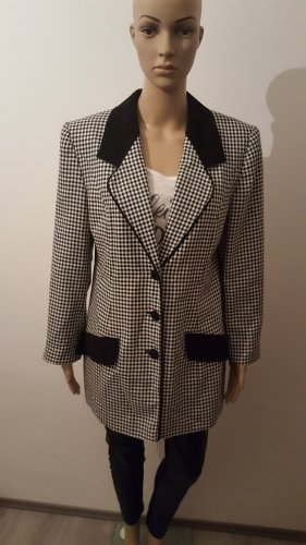 Long Blazer black-white
