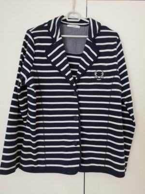 Cassis Jersey Blazer white-dark blue