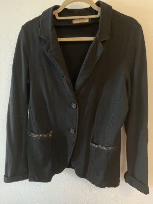 Blazer in jersey nero-antracite