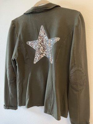 Blazer in jersey cachi