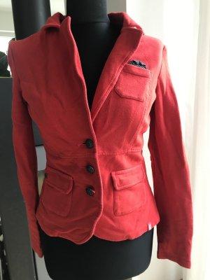 Jersey-Blazer rot Esprit, Gr. S, sportlicher Blazer