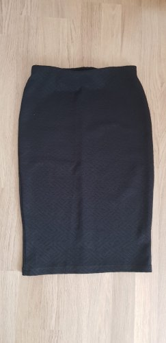 Mango Basics Pencil Skirt black cotton