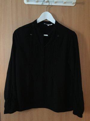 Jersey Bluse mit Häkelspitze