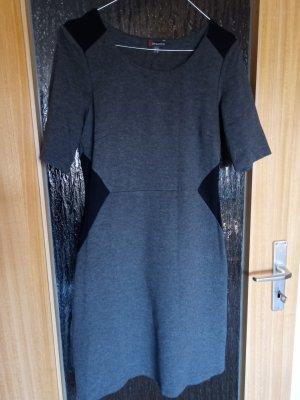 Street One Robe en jersey noir-gris tissu mixte