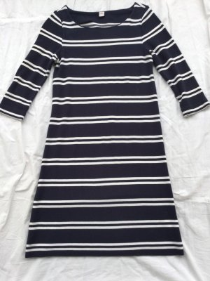 Jersey Kleid Marine gestreift
