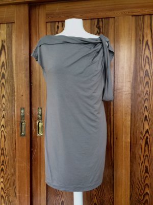 Jersey Kleid mit drapiertem Ausschnitt