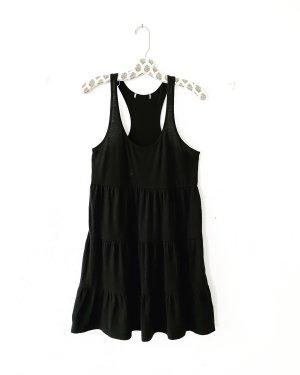 jersey kleid • schwarz • vintage • stufenrock