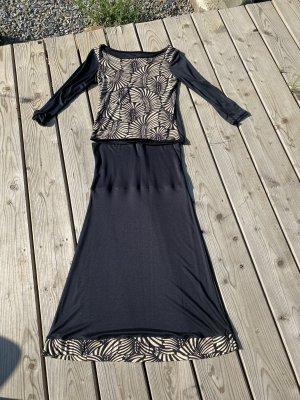 Unikat Ladies' Suit black-oatmeal