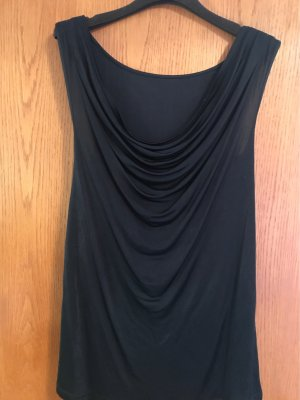 0039 Italy Cowl-Neck Top black