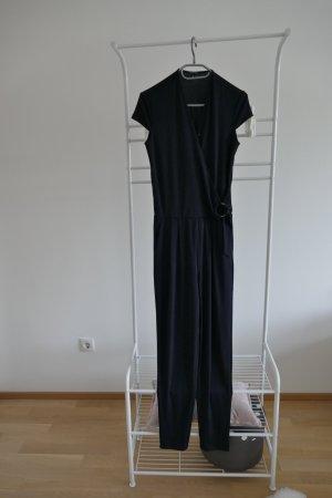 Comma Trouser Suit dark blue polyester