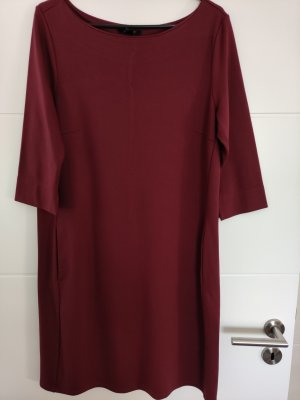 Jersey-Stretch Kleid ESMARA burgunderrot, Eingriffstaschen