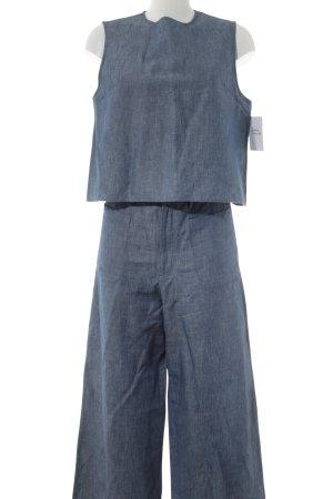 Podwójny zestaw z dżerseju szary niebieski-biały W stylu casual