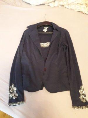 Heine Shirt Jacket blue cotton