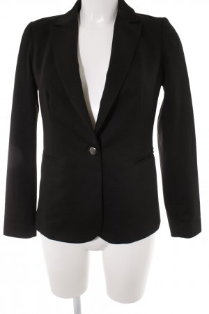 Jerseyblazer schwarz Business-Look