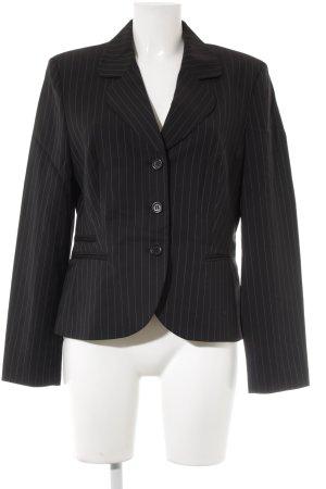 St. emile Jerseyblazer schwarz Streifenmuster Business-Look