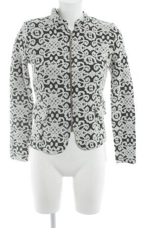Jerseyblazer schwarz-weiß abstraktes Muster Elegant