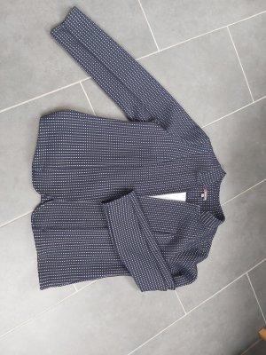 Street One Jersey blazer lichtgrijs-donkerblauw