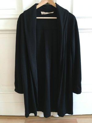 Chaqueta estilo camisa negro rayón