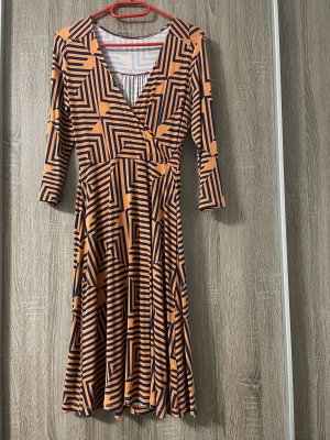 Anna Field Abito jersey arancione scuro-blu scuro