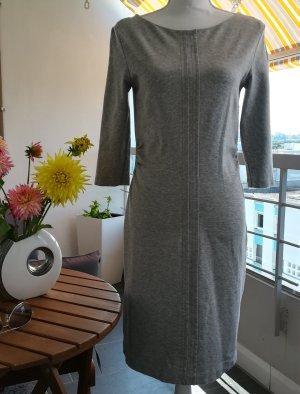 Jerseykleid, grau melliert, Gr. 38, von s.Oliver selection, Länge: 90 cm
