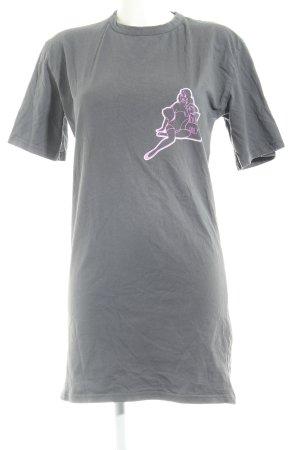 Jerseykleid grau-rosa Casual-Look