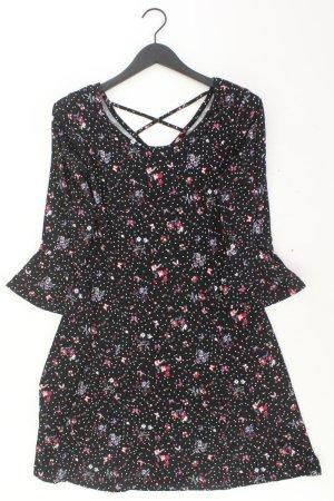 Jerseykleid Größe 38 mit Blumenmuster 3/4 Ärmel mehrfarbig aus Viskose