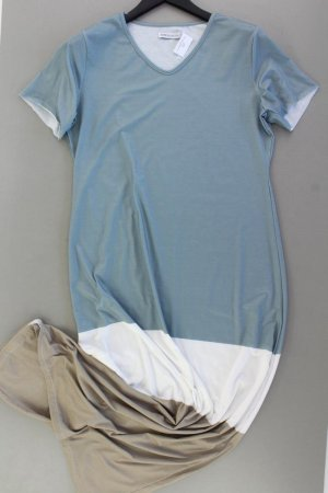Jerseykleid Größe L Kurzarm mehrfarbig