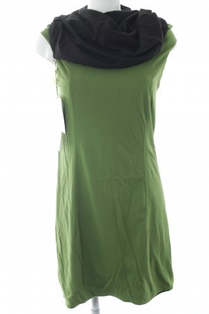 Jerseykleid grün-schwarz
