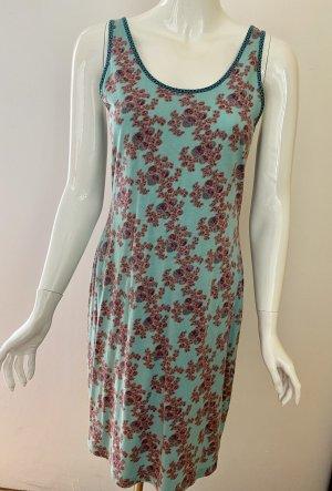 Lanius Jersey Dress turquoise cotton
